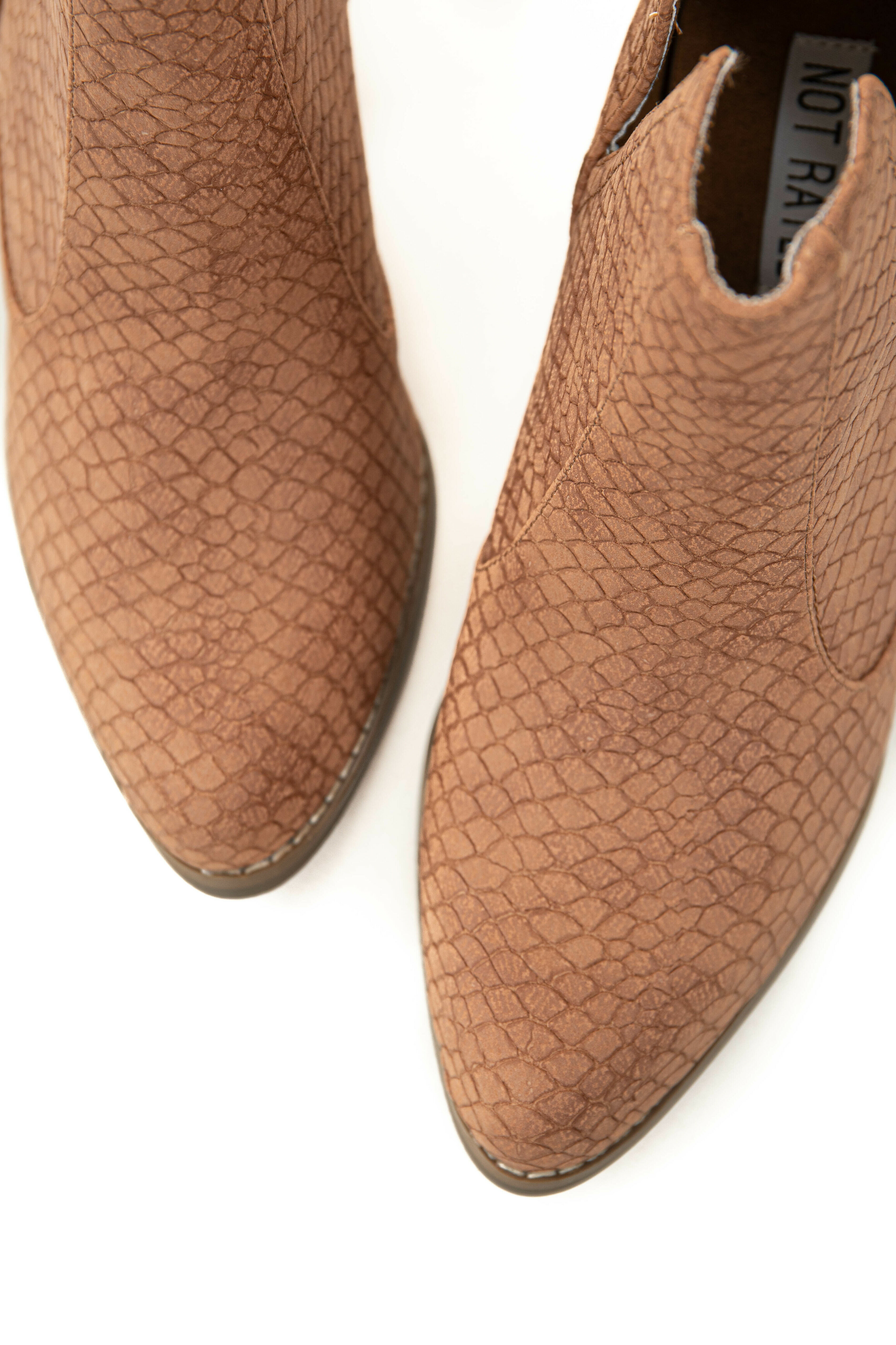 Sienna Snakeskin and Faux Suede Heeled Bootie