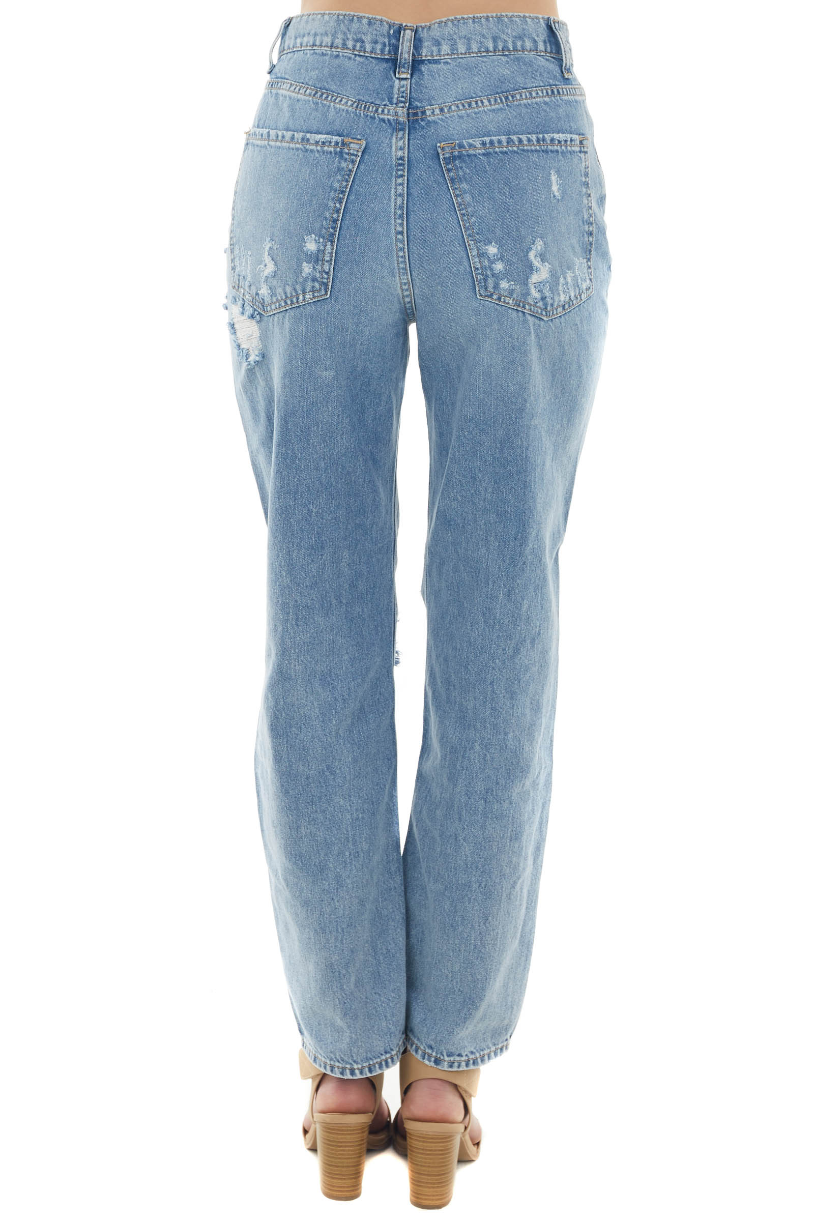Medium High Rise Destroyed Relaxed 90s Jeans