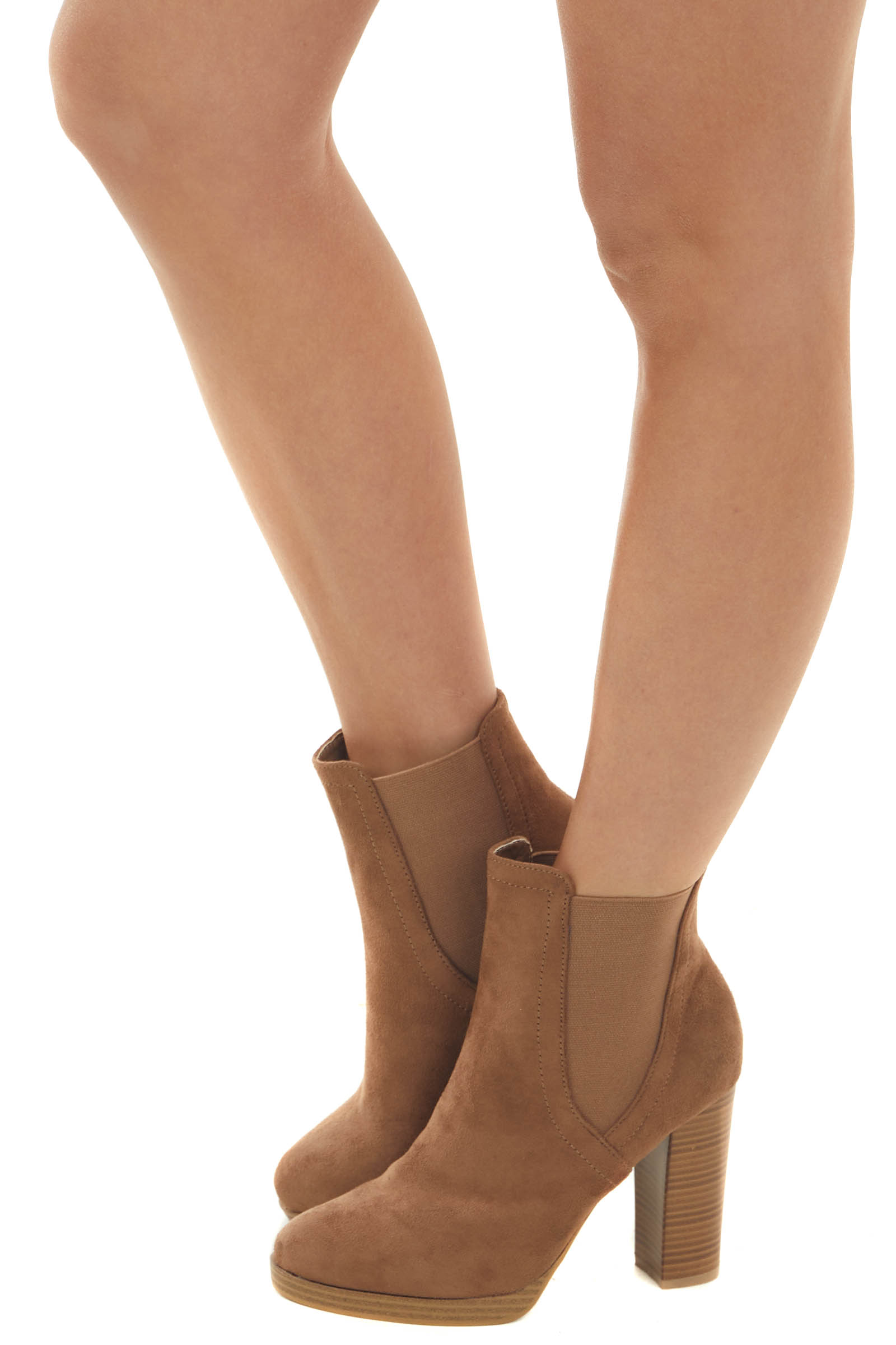 Sepia High Heel Booties with Side Panel