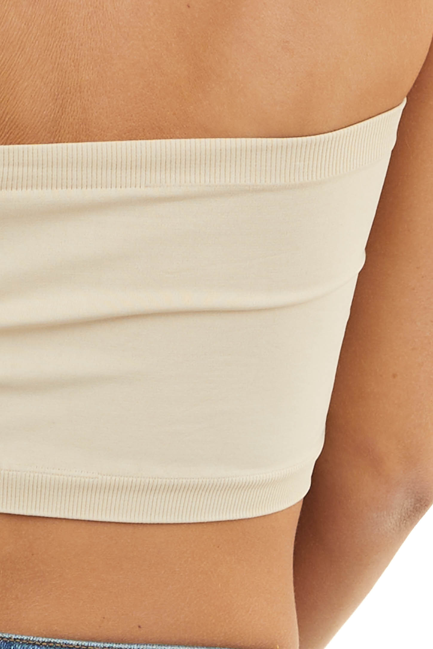 Stone Seamless Stretchy Bandeau Undergarment