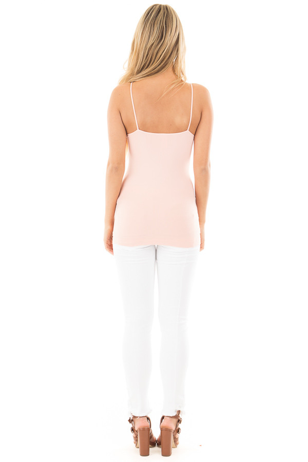 Rose Quartz Criss Cross Strappy Camisole back full body