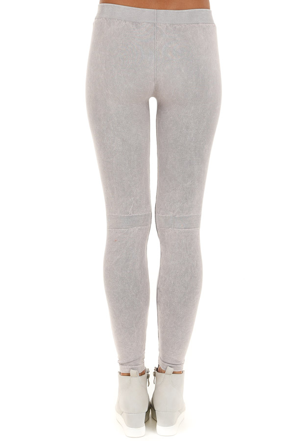 Cool Grey Vintage Destroyed Jeggings back view