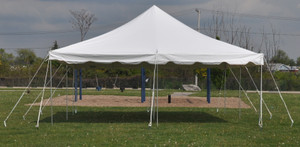 20 x 20 White Canopy Pole Tent Rental Starting At: