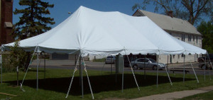 20 x 40 White Canopy Pole Tent