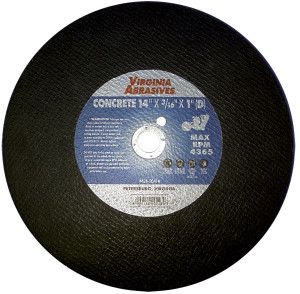 "14""X3/16""X1"" (D) Concrete Cutoff Wheel"
