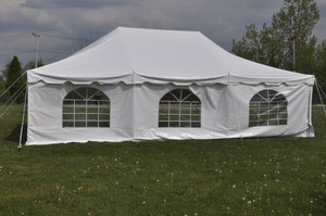7' x 30' Cathedral Tent Sidewall Rental Starting At: