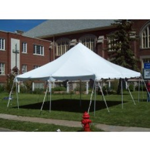 20 x 20 White Canopy Pole Tent