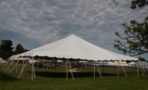 30 X 40 White Canopy Pole Tent