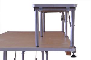 """8' x 12"""" Banquet Table Bar-Top Riser end view"""