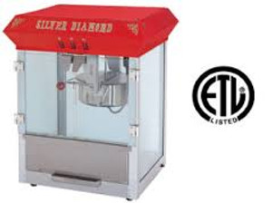 Silver Diamond Popcorn Machine