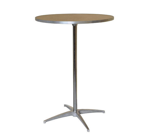 """30"""" Round Wooden Cocktail/Bistro Table Assembled"""