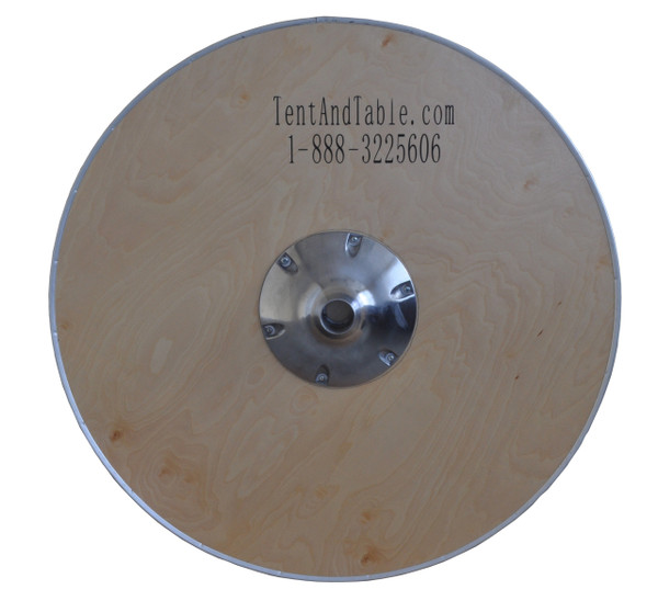 """30"""" Round Wooden Cocktail/Bistro Table Top Only Bottom View"""