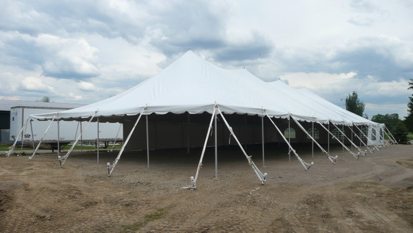 40 x 140 Sectional Canopy Pole Tent shown as 40 x 100
