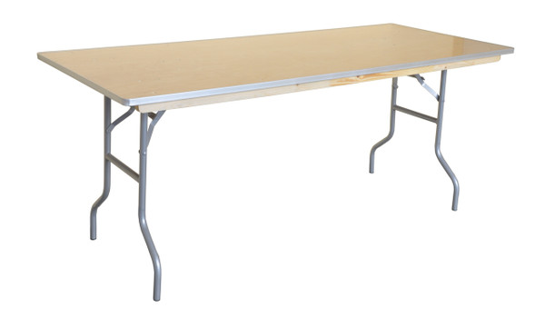 "6' x 30"" Rectangular Wood Banquet Table"