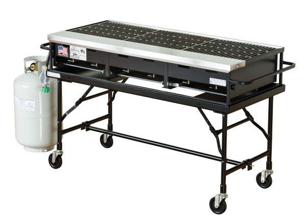 "24"" x 48"" Portable Propane Gas Grill With Stand"