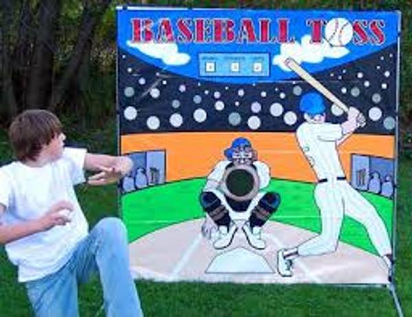 Baseball Toss Frame Game 1