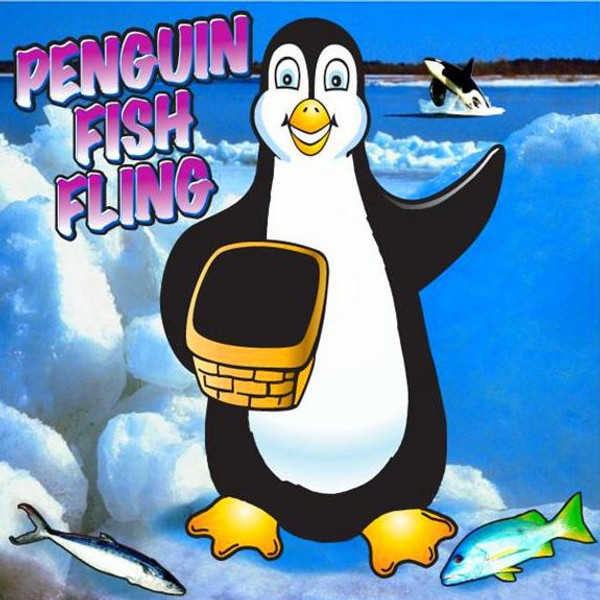 Penguin Fish Fling Frame Game 2