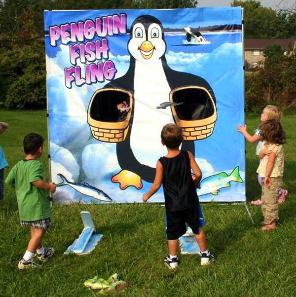 Penguin Fish Fling Frame Game 1