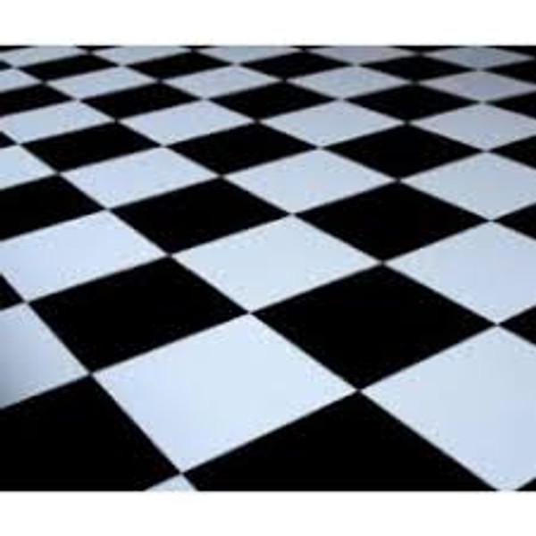 20' x 20' Black & White Checkered Dance Floor
