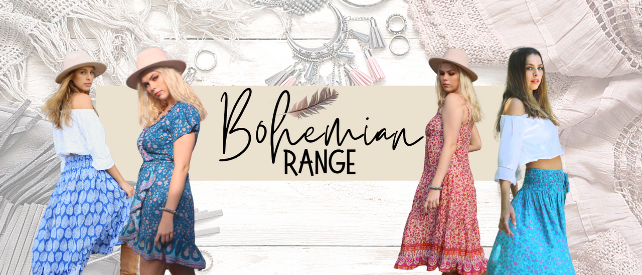 buy Bohemian summer dresses tops and bottoms