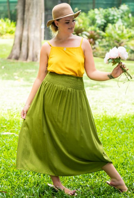 17994 Jade Long Skirt