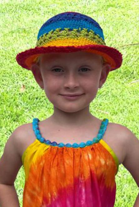 21982 Rainbow Kids Crochet Hat