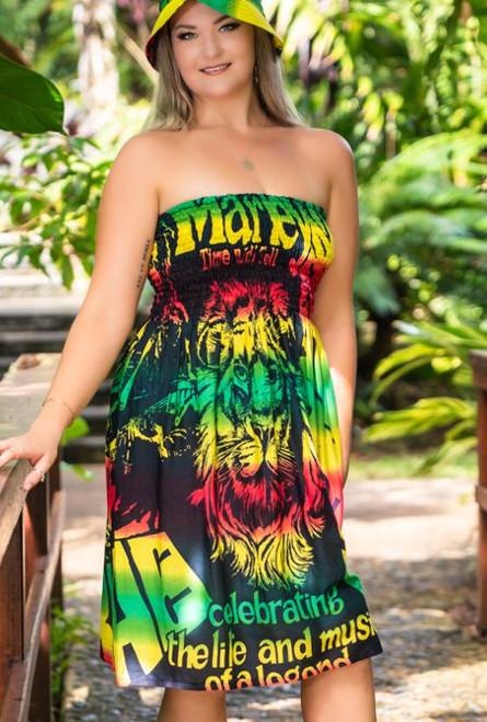 12001 Debbie Shirring summer Dress Freedom
