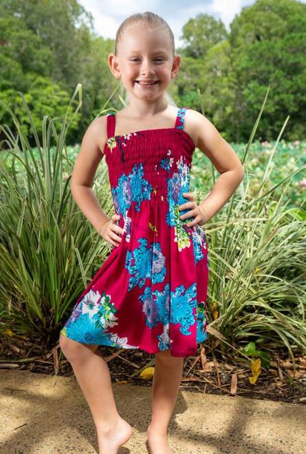 18984 Emma Kids Shirring Dress Blossom