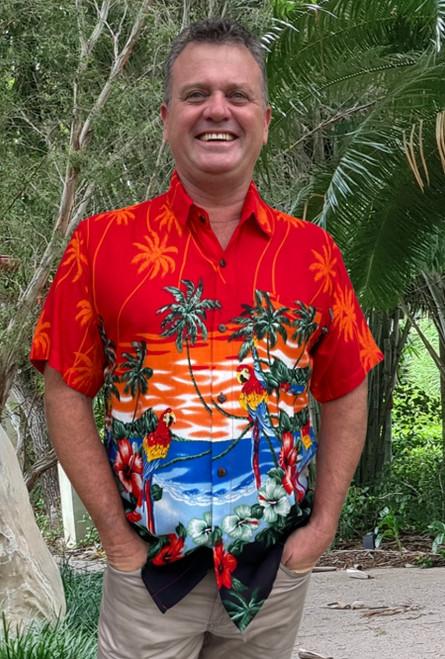 19995 Tony Men's Tropical Island Parrot & Cocatoo