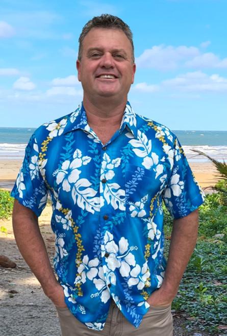 19994 Tony Men's Tropical Fade Hibiscus