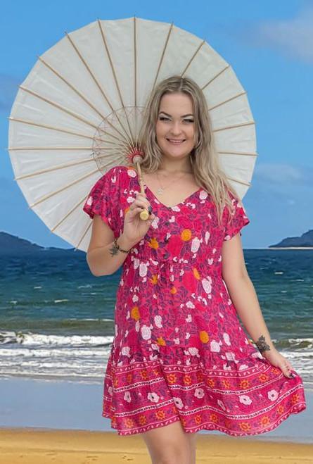 11960 Michelle Boho Rose Dress