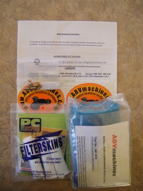 Jetting Package, Pre-Filter PLUS FilterSkins