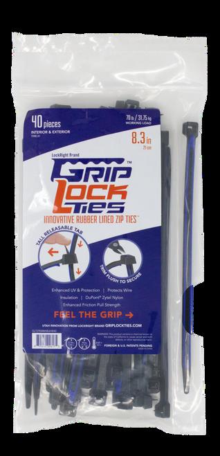 """GripLockTies 8.3"""" long"""