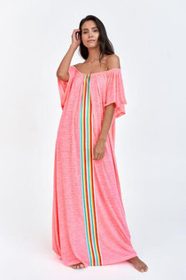 OTS Beach Kaftan in Hot Pink