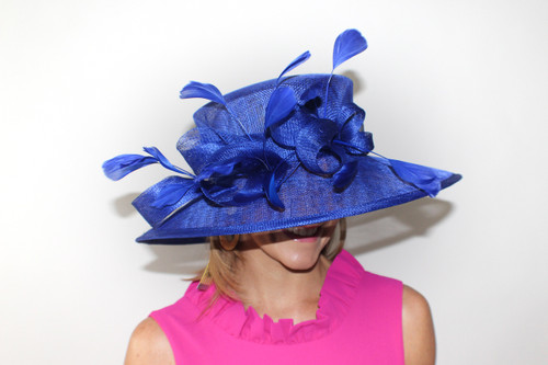 Loop & Feather Sinamay Derby Hat