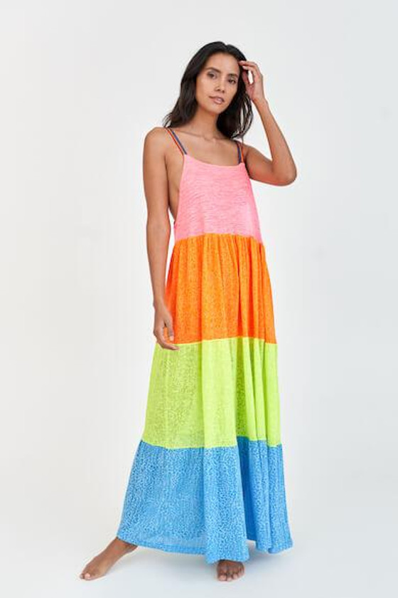 Rainbow Maxi Dress Brights