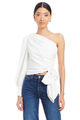 Long Sleeve Bexley Top in Ivory