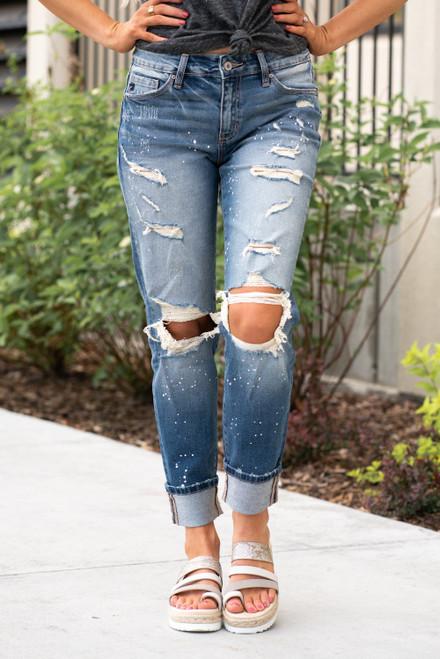 High Rise Boyfriend Jeans