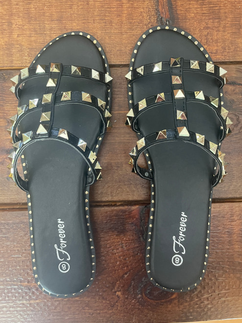 Black Stud Sandal