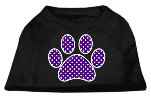 Purple Swiss Dot Paw Screen Print Shirt Black Xxl (18)