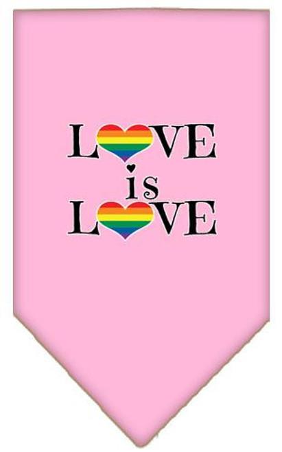 Love Is Love Screen Print Bandana Light Pink Large