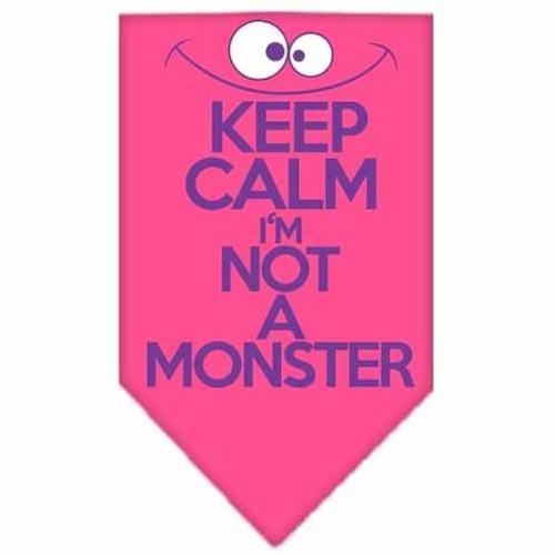 Keep Calm Screen Print Bandana Bright Pink Small