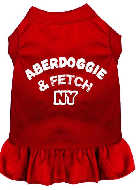 Aberdoggie Ny Screen Print Dress Red Xxxl (20)