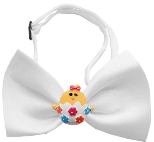 Easter Chick Chipper White Bow Tie