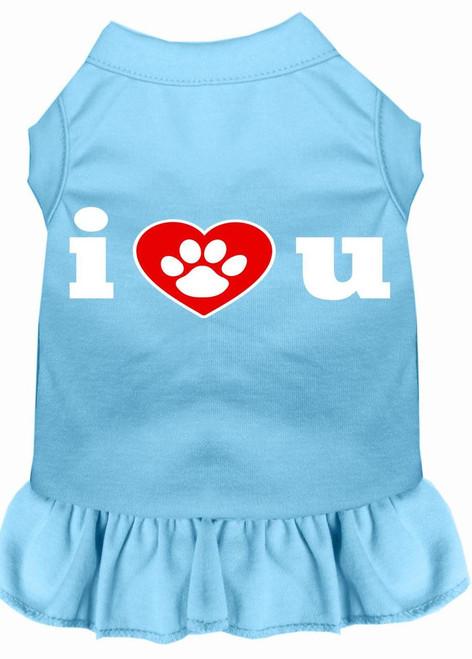 I Heart You Screen Print Dress Baby Blue Lg (14)