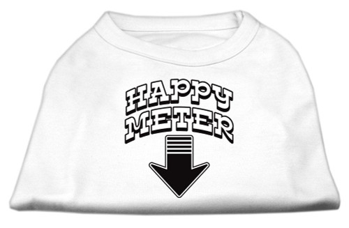 Happy Meter Screen Printed Dog Shirt White Xxxl (20) - 51-26 XXXLWT