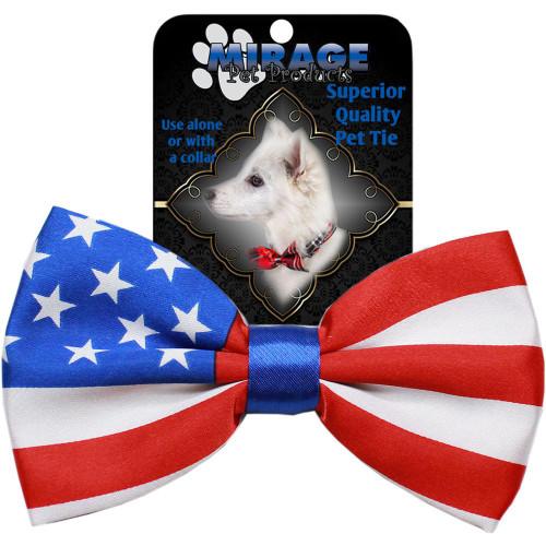 Big Dog Bow Tie American Flag