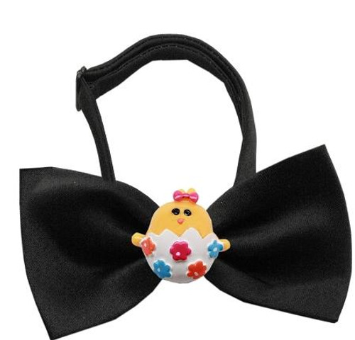Easter Chick Chipper Black Bow Tie