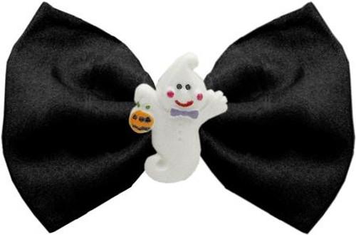 Ghost Chipper Black Pet Bow Tie