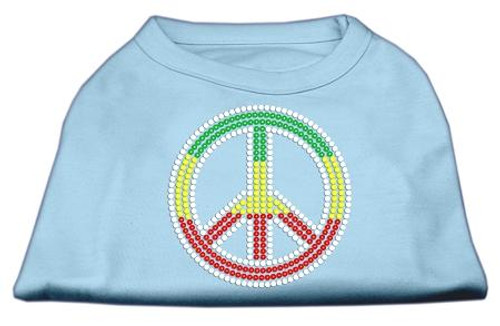 Rasta Peace Sign Shirts Baby Blue Xxxl(20)